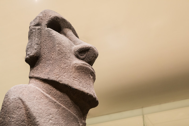 easter Island statue hoa hakananai'a @ the british museum