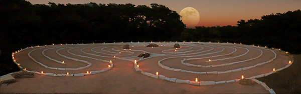 Moonrise over the Labyrinth