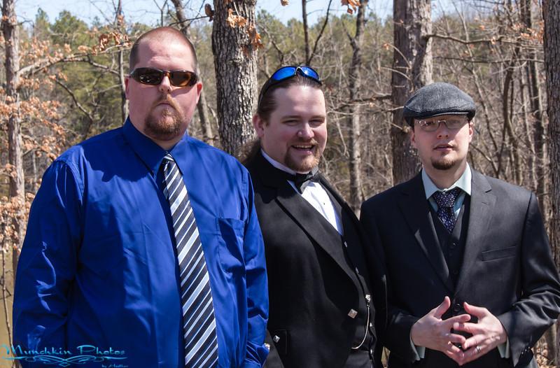 The groom and groomsmen