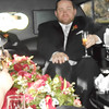 in the limo after the ceremony