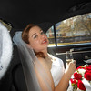 me in the limo after the ceremony