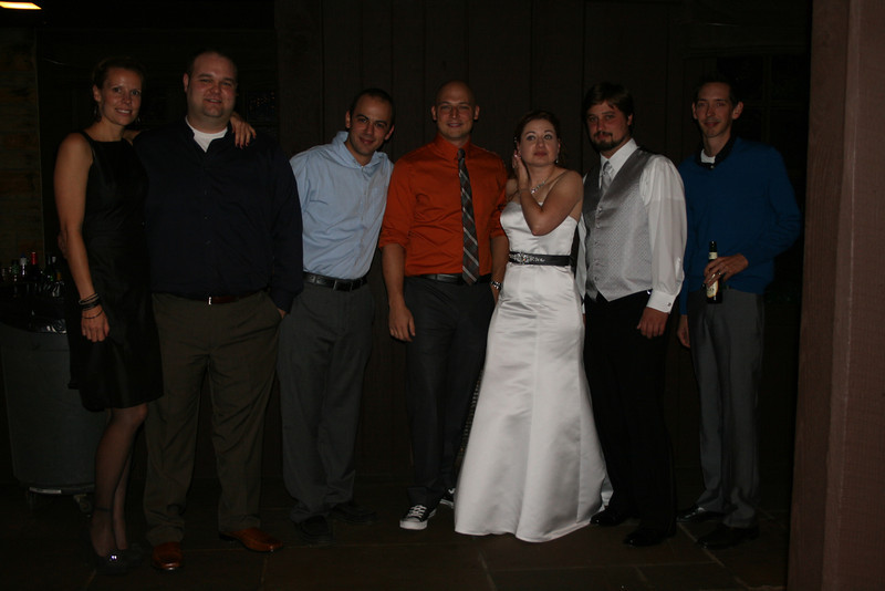 """Me with my brother and """"adoptive"""" brothers"""