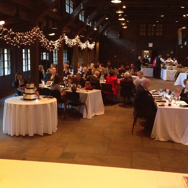 the hall as seen from  the head table