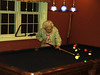 Grandma shooting pool. (don't let her fool you she is a real shark.