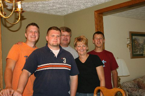 Jon, David, Uncle David, Aunt Karen,  Jeff  (Photo by Mom)