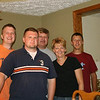 Jon, David, Uncle David, Aunt Karen,  Jeff  (Photo by Mom)