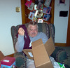 Dad opening present