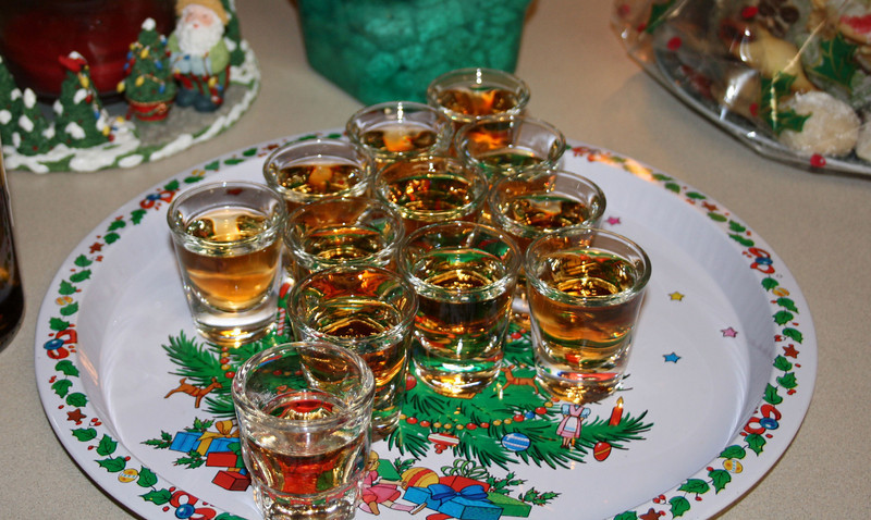 what is the holidays with out a shot or two.