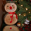 mom little homemade snowman