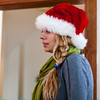 Erika in her santa hat