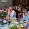 Jeff, Uncle Felix (behid center piece) Auntie Darlene, Erika, Stephen