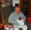 Dad with his moose head