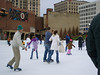 Skating at lock three in downtown Akron.