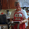 Auntie Linda in her cute little christmas apron