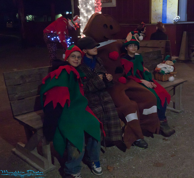 elves and the gingerbread man.
