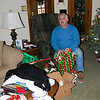 Dad opening presents
