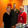 Auntie Darlene, Jeff (home from basic) and Auntie Linda