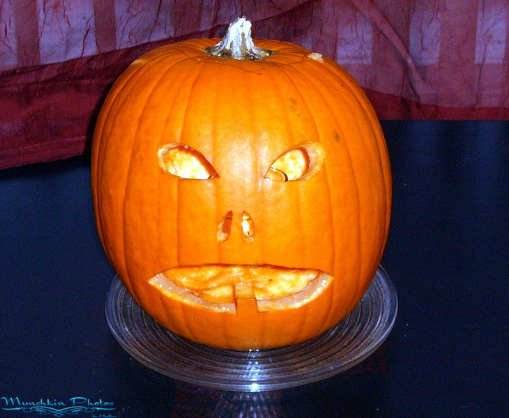 Jack the pumpkin. Carved by Jim.