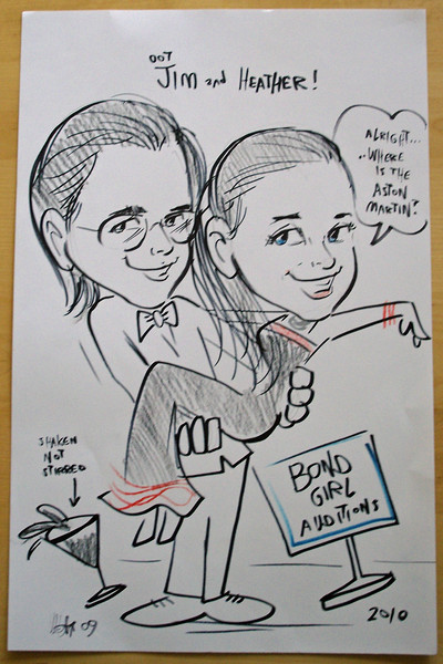 Our caricature, it hink it is cute