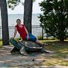 me on a sea turtle
