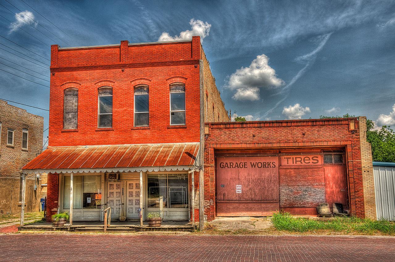 Garage Works & Tires in Bartlett Texas.