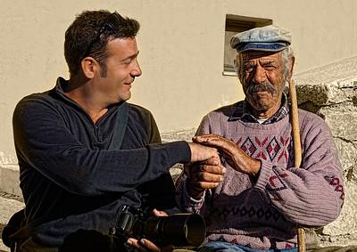 Two gentlemen in Pyrgos