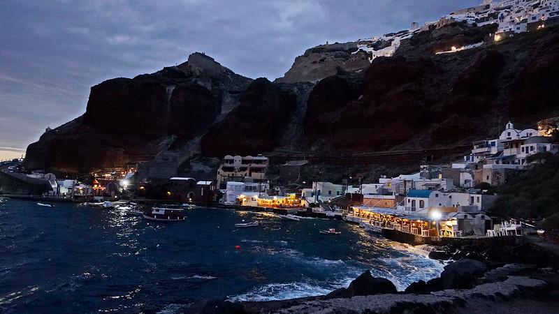 Ammoudi Bay just after sunset
