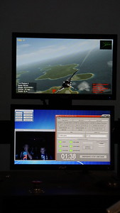 Flight simulator readout