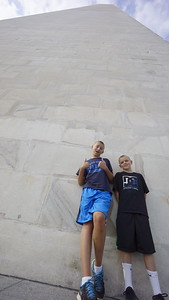 The cool kids at the Washington Monument.