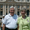In fron of the Vatican