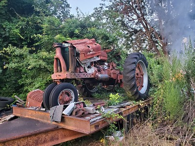 M Farmal Tractor / 3 pt hyd hitch on back / engine needs work / Also 3 axle back hoe trailer / $2500 or make offer for both