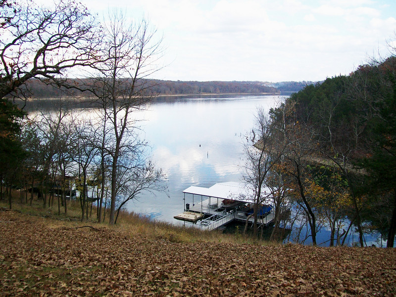 The view from the back porch where I lived. Table Rock Lake.