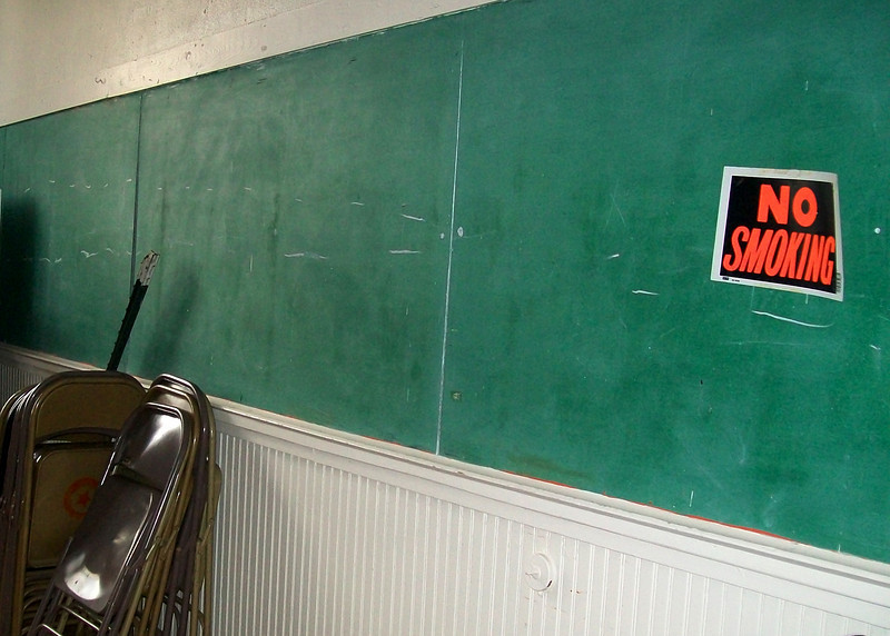 This is the same chalkboard that was there then.