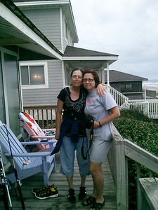 Rachel & Deborah at the beach in North Carolina