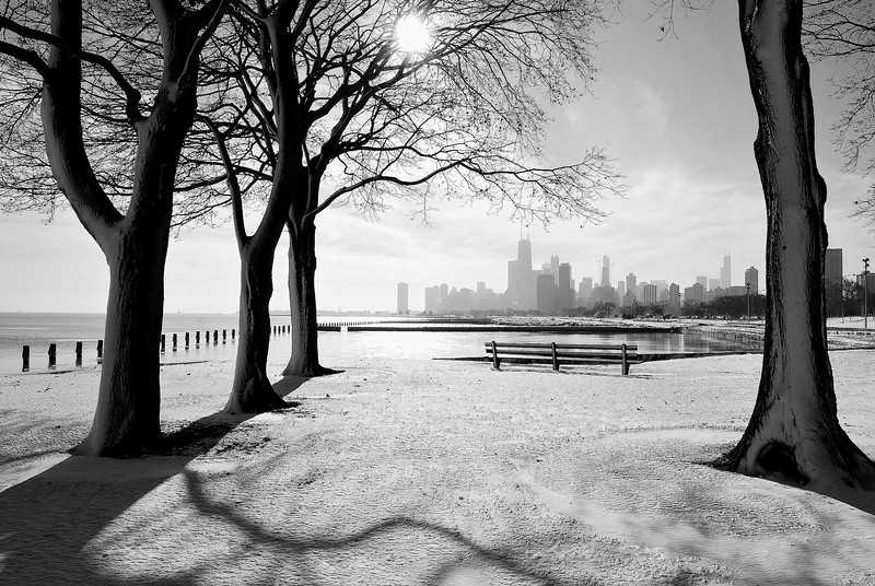 From The Gallery 'Black And White' The Photo 'Chicago Winter'