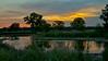 Sunset near Grand Island, Nebraska
