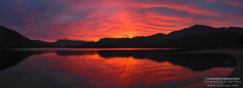 Apache Lake Sunset