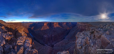 Moonset over Marble Canyon