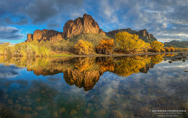 Fall on the Salt River at the Bulldog Cliffs