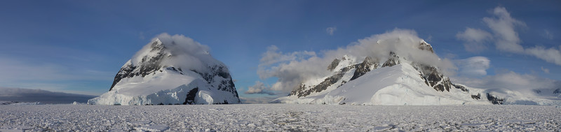 Looking back up the Lemaire Channel, Antarctica