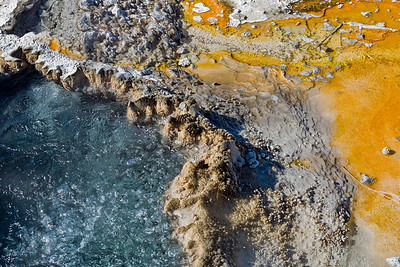 Boiling cauldron at Yellowstone National Park. The minerals and bacteria create a wonderful alien-like landscape full of colors and textures which caught my attention.