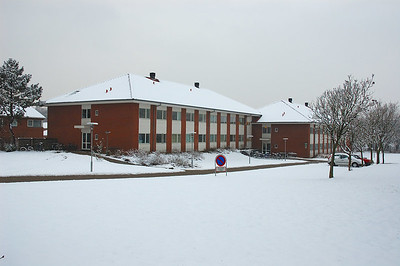 Sct. Georges Kollegiet, Esbjerg, A January morning after a snowy night...