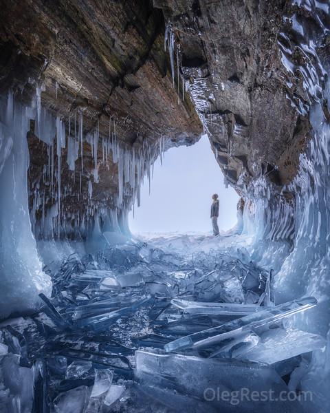 Ice cave on the Baikal