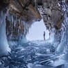 Ice cave on the Baikal