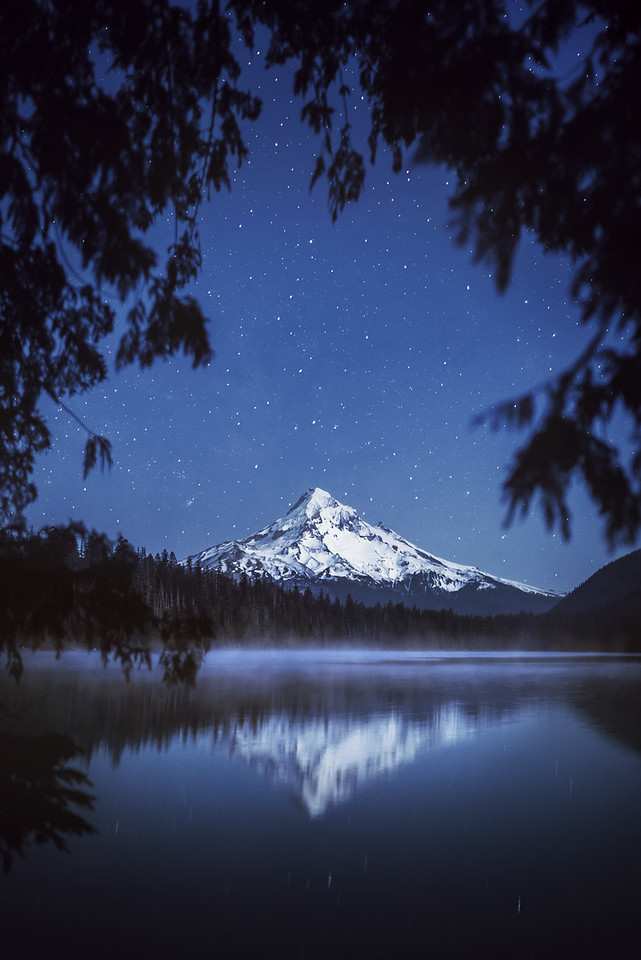Night at Mount Hood, Oregon