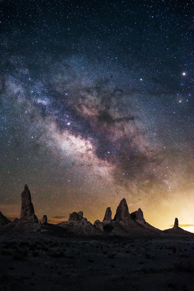 Milkyway Over The Trona Pinnacles, CA
