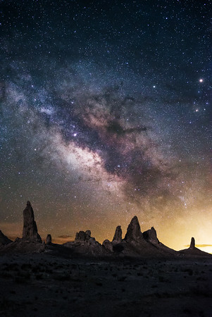 Milkyway Over The Trona Pinnacles, CA
