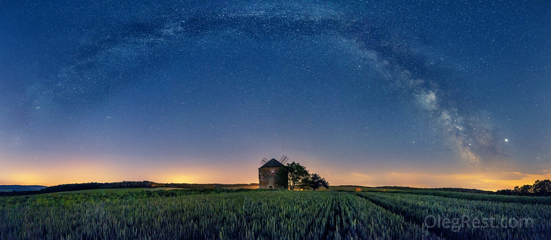 Milky way in Moravia