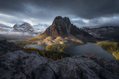Sunrise overlooking Assiniboine Provincial Park