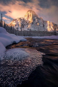 First light of the day on Mt Chephron - Banff, Canada